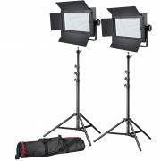 BRESSER LED Foto-Video Set 2x LG-600 38W/5600LUX + 2x Stativ