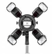 Triopo Q-5 Blitzhalter für 5 Kamerablitze