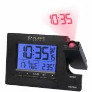 EXPLORE SCIENTIFIC Funk-Projektionswecker mit 2 Zeitzonen und Weckzeiten