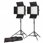 BRESSER LED Foto-Video Set 2x LS-600 38W/5.600LUX + 2x Stativ