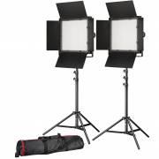 BRESSER LED Foto-Video Set 2x LS-900 54W/8.860LUX + 2x Stativ