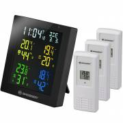 ClimaTemp Hygro Quadro Colour Thermo- / Hygrometer mit 3 Sensoren