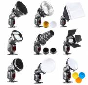 BRESSER BR-SET7 7-teiliges Lichtformerset für Kamerablitze
