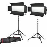 BRESSER LED Foto-Video Set 2x LG-900 54W/8.860LUX + 2x Stativ