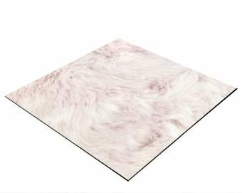 BRESSER Flatlay Hintergrund für Legebilder 60x60cm Plüsch rosa