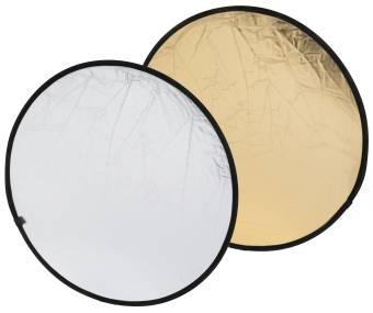 BRESSER BR-TR5 2-in-1 Faltreflektor gold/silber 80cm rund