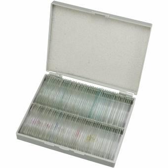 BRESSER Dauerpräparate Set mit 100 Präparaten in Kunststoffbox