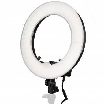 BRESSER BR-RL12 dimmbare LED Tageslicht-Ringleuchte 45W/4200 Lumen mit Tasche