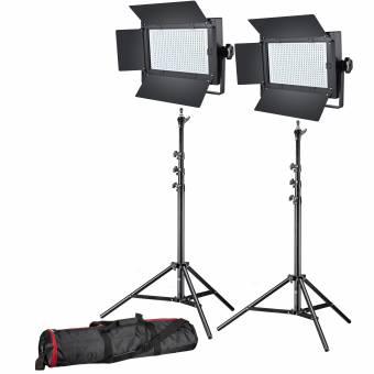 BRESSER LED Foto-Video Set 2x LG-600 38W/5600LUX + 2x Stativ