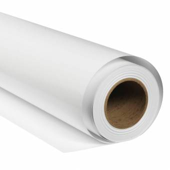 BRESSER SBP01 Papierhintergrundrolle 2,72 x 11m Arktisch Weiß