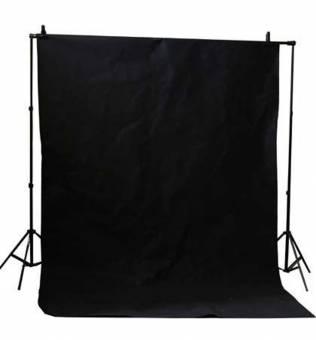 BRESSER BR-D26 Hintergrundsupport + Hintergrundtuch schwarz 3x6m