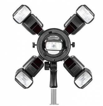 BRESSER Triopo Q-5 Blitzhalter für 5 Kamerablitze