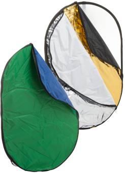 BRESSER BR-TR2 7-in-1 Faltdiffusor Faltreflektor Falthintergrund 90x120cm