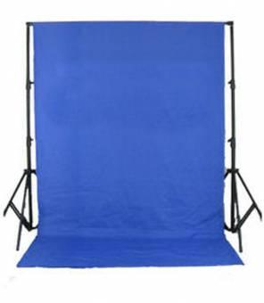 BRESSER BR-D26 Hintergrundsystem + Hintergrundtuch 3x6m Chromakey-blau
