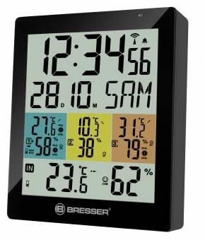 BRESSER Temeo Hygro Quadro DLX - digitales Thermometer und Hygrometer für 4 Messorte
