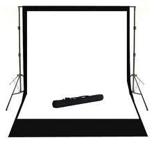 BRESSER D-36 Hintergrundsystem + 2 Rollen Hintergrundpapier arktisch weiß + schwarz 2,72x11m