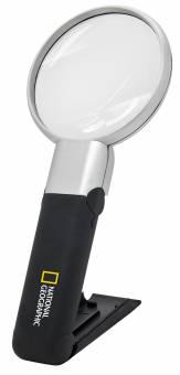 NATIONAL GEOGRAPHIC 2in1 LED Tisch- und Handlupe 2x/4x