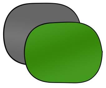 BRESSER BR-3 Faltbarer Hintergrund 180x240cm 2-seitig grau/grün
