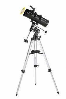 BRESSER Teleskop Pluto 114/500 EQ mit Smartphone Kamera Adapter