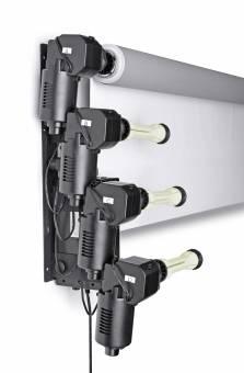 BRESSER MB-6Y Elektrische Wandhalterung für 6 Papierhintergrundrollen
