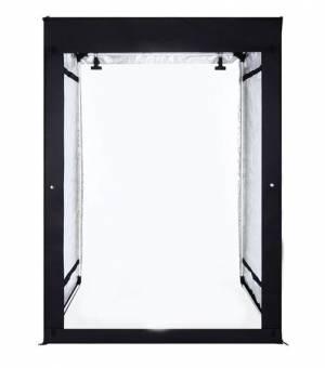 BRESSER BR-PHT160 großes Lichtzelt / Softbox 160x120x80 cm mit LED Beleuchtung