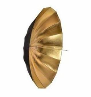 BRESSER BR-BG180 Jumbo Reflexschirm schwarz/gold 180cm
