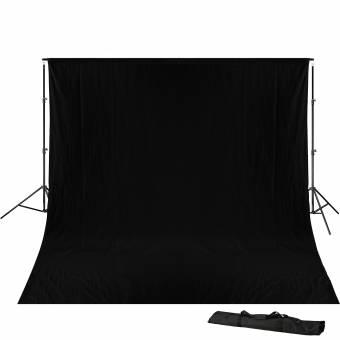 BRESSER BR-D23 Hintergrundsupport 240x300cm inkl. schwarzem Hintergrundtuch 3x4m