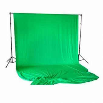 BRESSER BR-D26 Hintergrundsystem + Hintergrundtuch 3x6m Chromakey-grün