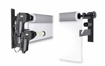 BRESSER MB-2Y Elektrische Wandhalterung für 2 Papierhintergrundrollen