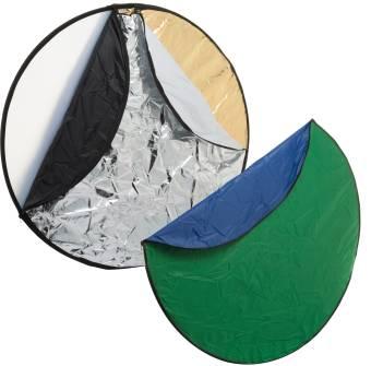 BRESSER BR-TR2 7-in-1 Faltdiffusor Faltreflektor Falthintergrund 56cm rund
