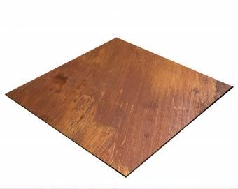 BRESSER Flatlay Hintergrund für Legebilder 40x40cm Rost