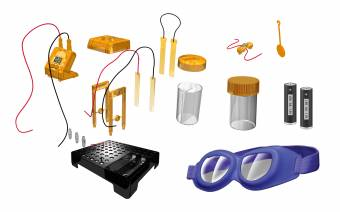 BRESSER Junior Experimentierset Flüssigkeitsbetriebene Uhr