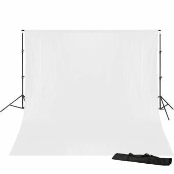 BRESSER BR-D23 Hintergrundsupport 240x300cm inkl. weißem Hintergrundtuch 3x4m