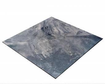 BRESSER Flatlay Hintergrund für Legebilder 60x60cm Abstraktes Grau/Blau