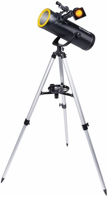 BRESSER Solarix 114/500 Teleskop mit Sonnenfilter