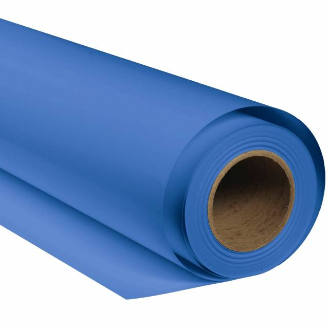 BRESSER SBP27 Papierhintergrundrolle 2,72 x 11m Chromakey Blau