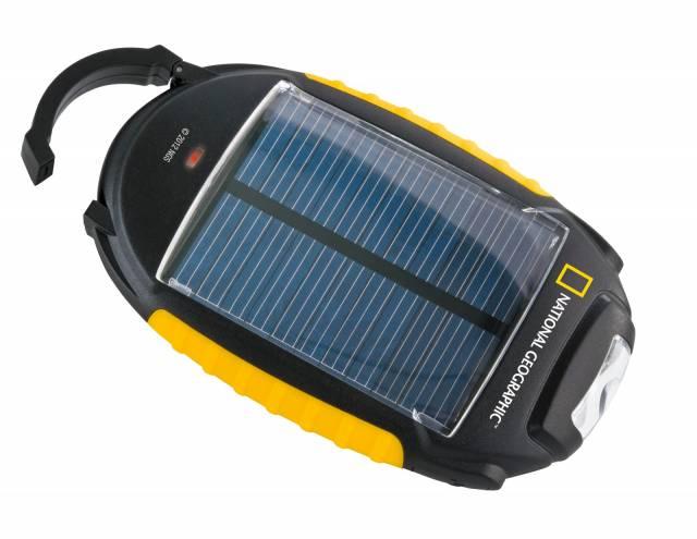 NATIONAL GEOGRAPHIC 4-in-1 Solar-Ladegerät mit Leuchtfunktionen