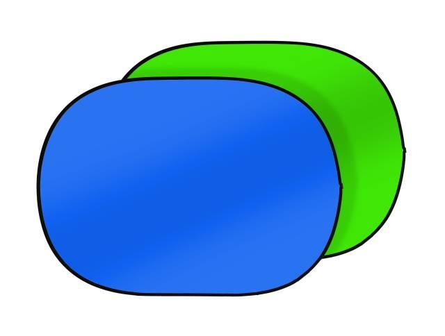 BRESSER TR-3 Faltbarer Hintergrund 2-seitig grün/blau 180x225cm