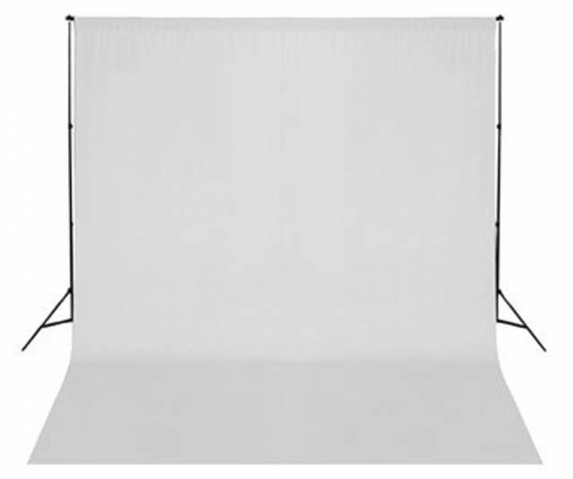 BRESSER BR-D26 Hintergrundsystem + Hintergrundstoff 3 x 6m Weiß