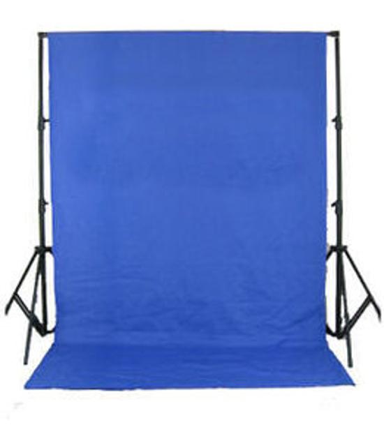 BRESSER BR-D26 Hintergrundsystem + Hintergrundtuch 3 x 6m Chromakey-Blau