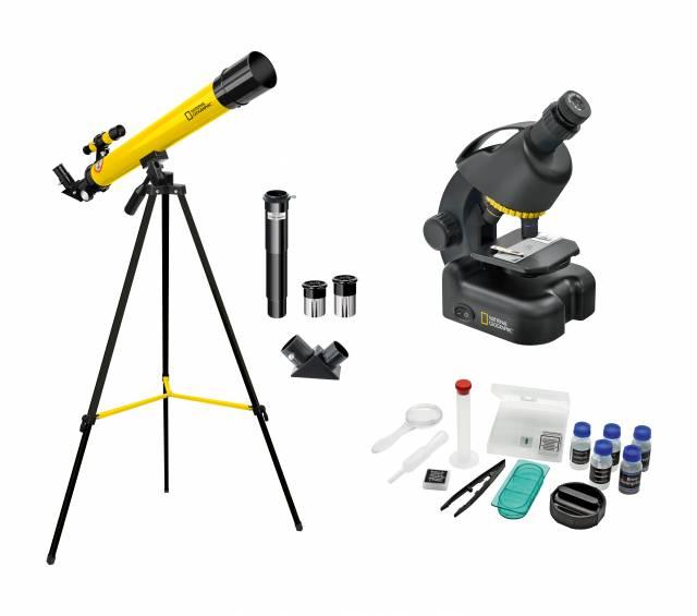 NATIONAL GEOGRAPHIC Teleskop + Mikroskop Set für Einsteiger