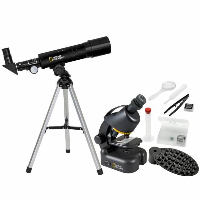 National Geographic Kompakt Teleskop + Mikroskop mit Smartphonehalterung