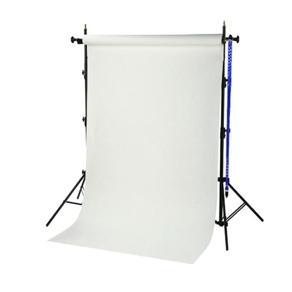 BRESSER BR-TP240 Hintergrundsystem 240cm hoch + Papierrolle 1,35x11m arktisch weiß
