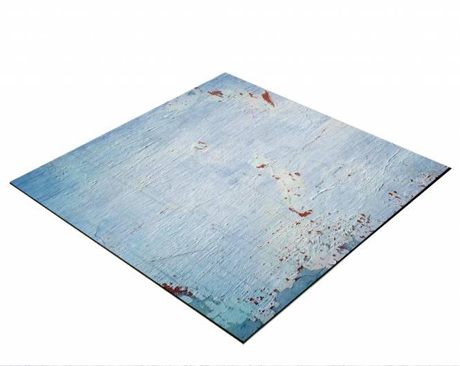BRESSER Flatlay Hintergrund für Legebilder 60x60cm Hellblau