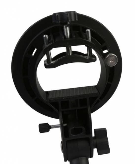 BRESSER JM-86 Kamerablitzhalter mit S-Bajonett-Anschluss für Zubehör