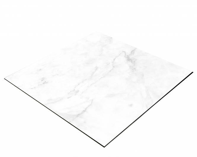 BRESSER Flatlay Hintergrund für Legebilder 60x60cm Heller Marmor