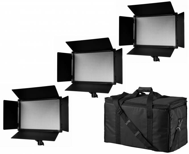 BRESSER SH-600A Bi-Color LED Flächenleuchten 3er Set