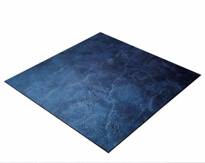 BRESSER Flatlay Hintergrund für Legebilder 60x60cm Abstraktes Dunkelblau