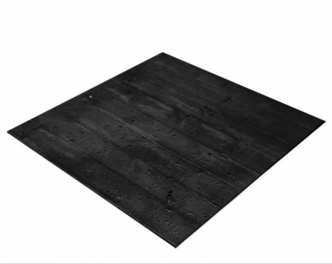 BRESSER Flatlay Hintergrund für Legebilder 40x40cm Holzplanken schwarz