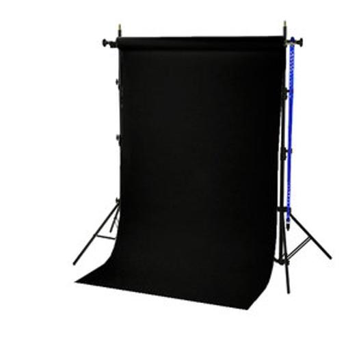 BRESSER BR-TP240 Hintergrundsystem 240cm hoch + Papierrolle 1,35x11m schwarz